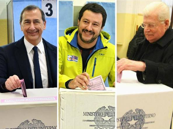 Il voto di Giuseppe Sala Matteo Salvini e Angelo Scola